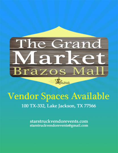 Vendor Events at the Brazos Spaces Available