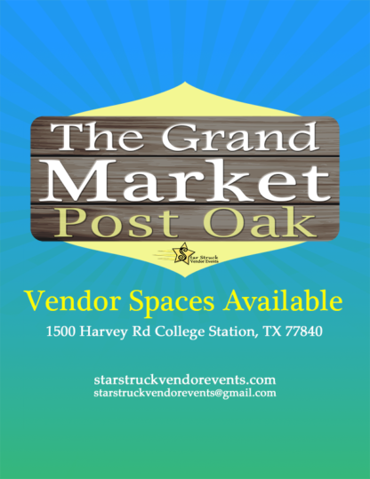 Vendor Events at Post Oak Spaces Available