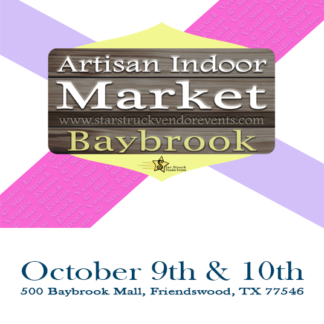 Artisan Indoor Market at Baybrook October 9th & 10th 2021